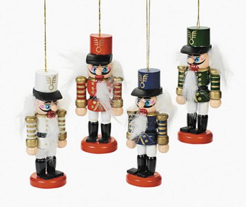 FX 24 Wooden Nutcracker Ornament Set Lot Christmas Tree/Gift Topper Wood