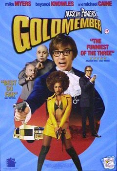 Austin Powers in Goldständer Filmposter, selten, krass, 43 x 61 cm