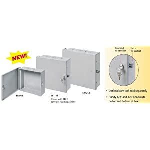 "Arlington EB1212-1 Electronic Equipment Enclosure Box, 12"" x 12"" x 4"", Non-Metallic, 1-Pack"
