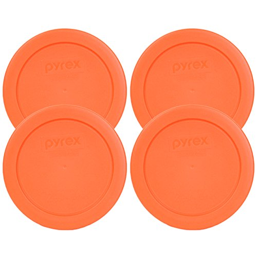 Pyrex 7200-PC 2 Cup Round Cover Orange (Pack of 4)