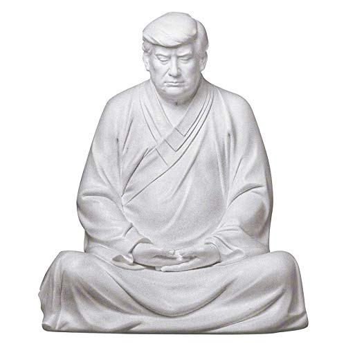 DIZHIGE Donald Trump Buddha Statues, Resin Trump Bobble Head Joke Novelty Gifts, Suitable for Cars, Office Desktops and Home Accessories, 16x9cm