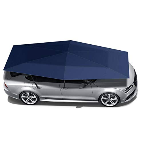 WYW New Outdoor Car Cover Car Vehicle Tent Car Umbrella Sun Shade Cover Oxford Cloth Polyester Covers without Bracket Blue