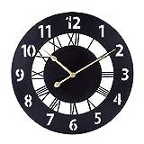 ALLESOK - Orologio da parete Silent Wall Clock, 16 pollici, decorativo, per soggiorno, cucina, ufficio e camera da letto, nero
