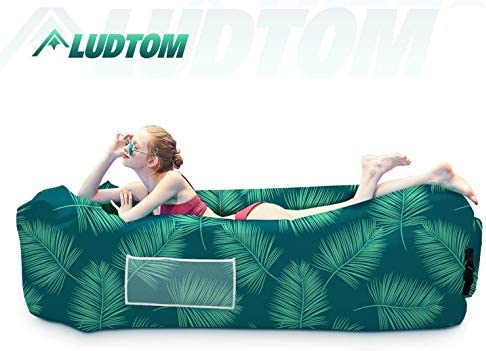 LUDTOM Inflatable Lounger Air Sofa Hammock Portable Waterproof Anti Air Leaking Pouch Couch product image