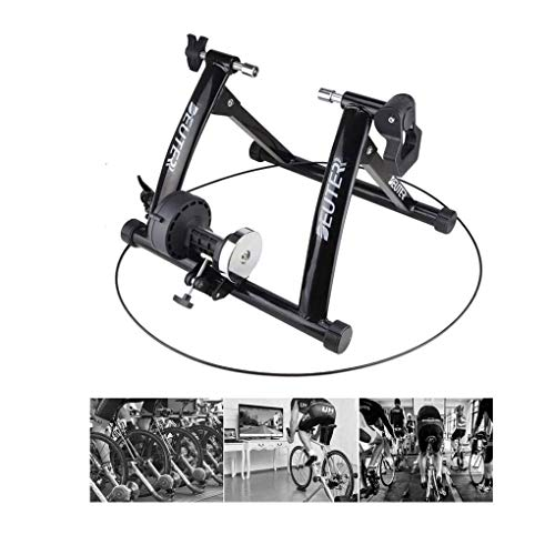 Bike Turbo Trainer,Indoor Reluctance Bicycle Roller Wheel Stand Home Foldable Stationary Exercise Stand Wire Control for 26-28 Inch Bikes Or Wheel