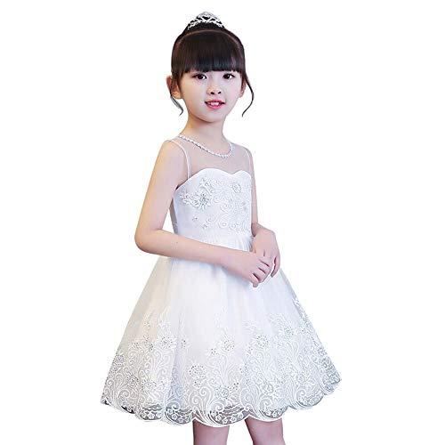 Zhao Li Kostuums Witte Prinses Bloem Meisje Jurk Zomer Tutu Bruiloft Verjaardag Feestjurken voor Meisjes Kinderkostuum Nieuwjaar Kids Kleding dansen unifom