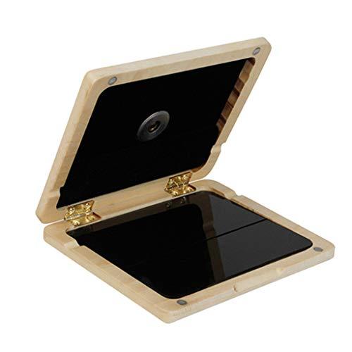 Haptian Draagbare Rietcontainer Beschermende Box 5 Slots Case met Mini Hygrometer voor Sax