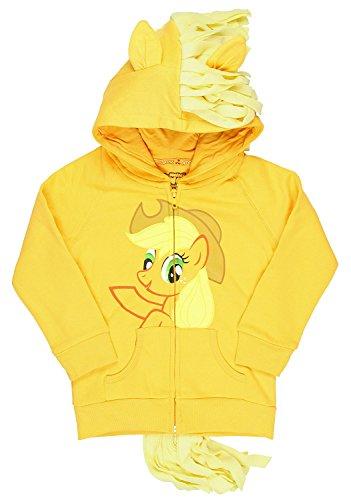 My Little Pony - Sudadera con capucha para niña, color naranja