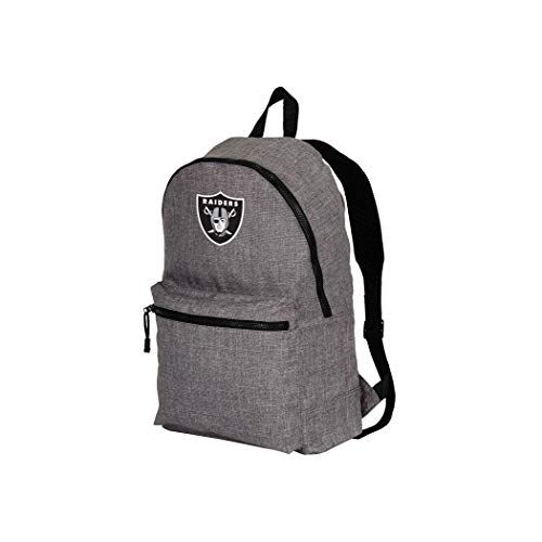 """Officially Licensed NFL Oakland Raiders """"Tandem"""" Packable Backpack, Grey, One Size"""