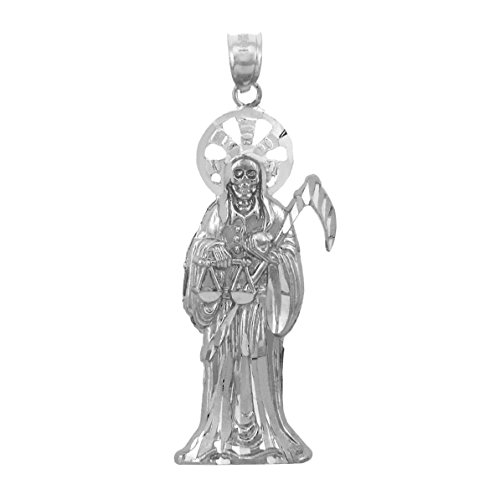 Saint Collection Fine Plata de Ley 925Santa Muerte Collar Colgante