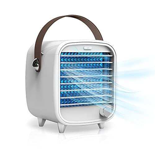 Ventilador de ventana Aire acondicionado portátil Pequeño USB Enfriador de aire de escritorio Caja de hielo incorporada Ventilador de refrigeración Viento fuerte Luz nocturna Características
