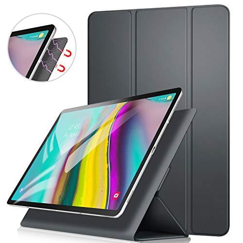 ZtotopCase Hülle für Samsung Galaxy Tab S5e 10,5 Zoll (T720/T725),Ultra dünn smart magnetische Abdeckung,Trifold Stand Schutzhülle mit Auto Aufwachen/Schlaf für Samsung Tablette S5e 10.5,Grau