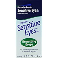 Bausch + Lomb Sensitive Eyes Rewetting Drops, 0.5 Ounce Bottle