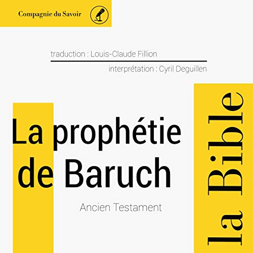 La prophétie de Baruch audiobook cover art