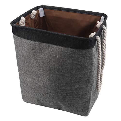 JIFNCR Faltbarer Stoff Wäschekorb Schmutzige Kleidung Aufbewahrungskorb Übergroßer Wäschesack Zweifarbiger Spleißwäschekorb, schwarz-grau