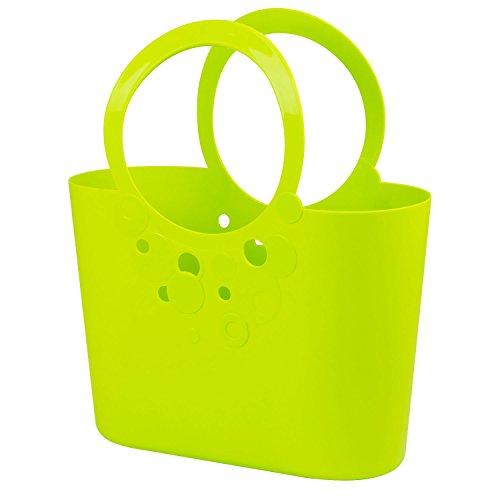 Große XXL Size moderne Handtasche 21 L Picknickkorb limetten grün Griffe Lily Strandtasche Tasche Basket