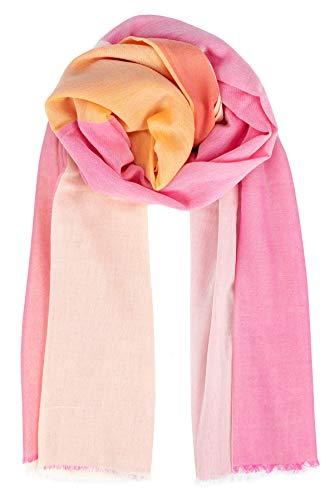 Becksöndergaard Damen Schal Vikko Cowea Rose Halstuch Rosa Doppelreihiger Rand Baumwolle 100x200 cm - 2001612001-354