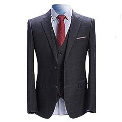 [YFFUSHI] スーツ メンス スリーピース チェック XS-5XL 6柄 ビジネス