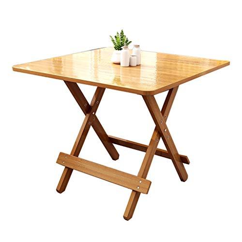 YShop Table Pliante en Bambou, Table de Repas for Pique-Nique, Hauteur réglable, Portable, Bureau à Cartes, Petite Table for Le Plateau Familial (Color : 80cm)