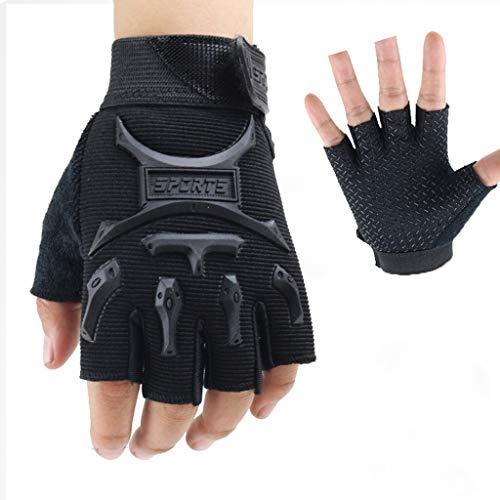 POOMALL Fingerless Taktische Handschuhe Männer Airsoft Handschuhe, Militär Handschuhe Wandern Handschuhe Unisex Kinder Handschuhe Taktische Handschuhe Fingerlose Handschuhe Tarnung Driving Handschuhe