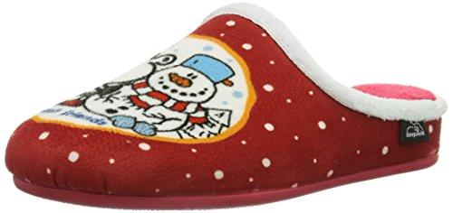 Sheepworld Unisex-Erwachsene 320396 Pantoffeln, Rot (rot), 42 EU (8 UK)