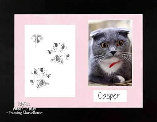 Anika-Baby Cat Animal Patte pattes kit cadre photo noir Ensemble de chaton souvenir mémoire empreintes personnaliser vous-même Cadeau