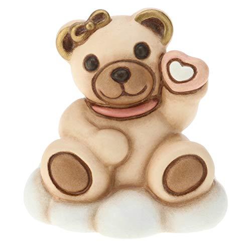 THUN - Teddy Bimba su Nuvola - Idea per Bomboniera - Accessori Casa - Formato Mini - Ceramica - h 5 cm