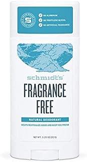 Schmidt's Natural Deodorant – Fragrance-Free, Unscented, Aluminum-Free Odor..