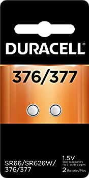 Duracell - 376/377 Silver Oxide Button Battery - Long Lasting Battery - 2 Count