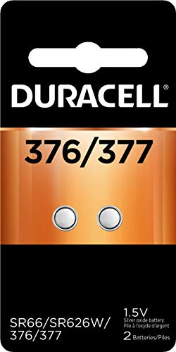 Duracell – 376/377 1.5V Silver Oxide Button Battery – long-lasting battery – 2 count