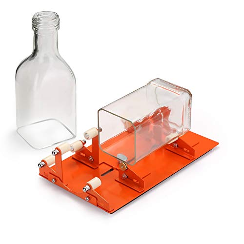 FIXM Version Bottle Cutting Machine for Various Sizes Shapes of Bottle: Round, Square, Oval Bottle and Bottle Neck, Glass Bottle Cutting Tool for DIY Creation
