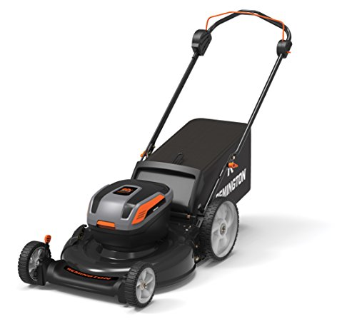 Remington RM4060 40V 21-Inch Cordless Battery-Powered Push Lawn Mower with Electric Start