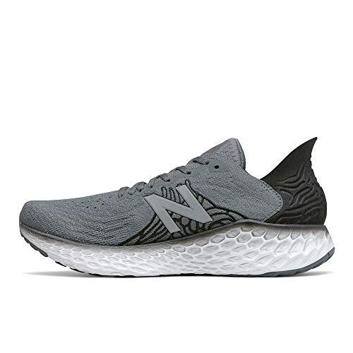 New Balance Men's Fresh Foam 1080 V10 Running Shoe, Lead/Black, 10.5