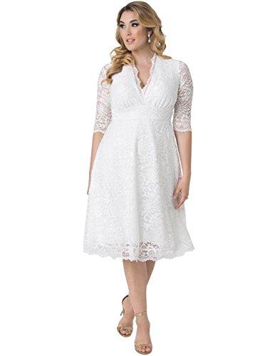 Kiyonna Women's Plus Size Wedding Belle Dress 3X Ivory