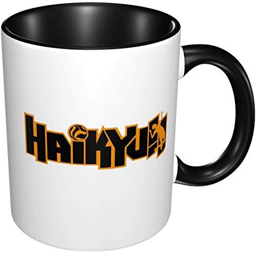 ¡¡Bernice Winifred Anime 3d patrón Haikyuu !! Tazas de café de cerámica-Negro