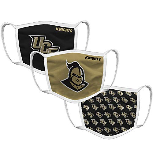 UCF Knights Retro Face Covering 3-Pack - Black