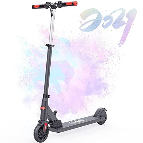 HOVERMAX Elektro Scooter für Kinder, Faltbarer und Verstellbarer Elektroroller, Höchstgeschwindigkeit 20 km / h, Gewichtsbelastung bis 80 kg, Motor 150 W, Geschenke für Kinder und Jugendliche