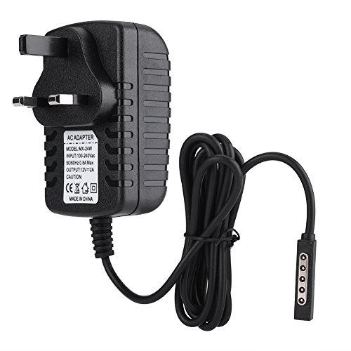 ASHATA AC Power Supply Adapter,12V 2A Power Adapter Tablet Charger for Microsoft Surface RT/ RT2 (Black)