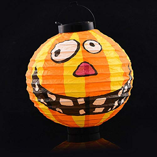 Halloween Ghost Festival Family Street LED Papier Lantaarn Pompoen Spin Bat Hang Lantaarn Lantaarn Halloween Party Decor Props