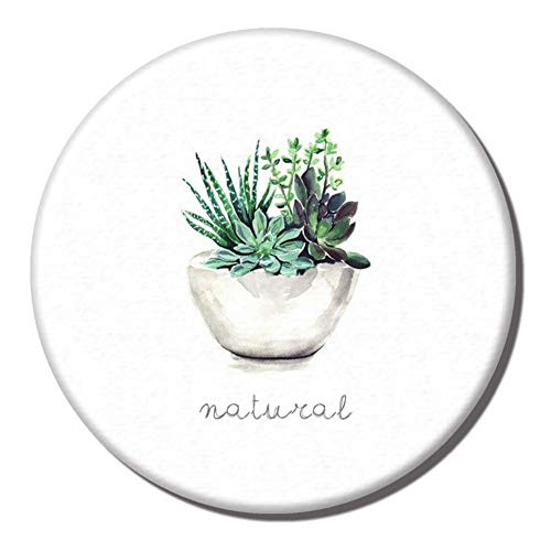 MeterMall 10cm Diatomite Antiskid Cup Mat Water Absorption Quick Dry Soap Pad Insulation Coaster one potted plant 10cm