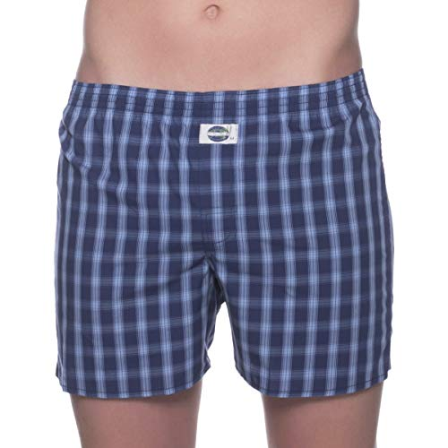 D.E.A.L International boxershorts blauw geruit