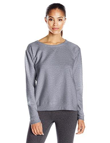 Hanes Women's V-Notch Pullover Fleece Sweatshirt, Light Steel, M