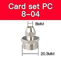 BXU-BG 1ピー圧縮フェルールチューブ継手真鍮パイプダブルファストツイストカードPC4 / 6/8/10 (Color : PC8 04)