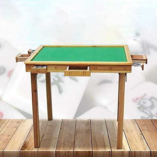 N/Z Living Equipment Mahjong Tisch Klapp Mahjong Tisch Simple Home Square Tisch Simple Dual Use Mahjong Tisch Klapp Mahjong Tisch (Farbe: Holz Größe: One Size)