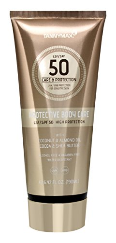 TannyMaxx Protective Body Care LSF 50 190ml mit Sheabutter und Kokosnuss-Öl/Intensiv pflegende Bodylotion mit Sonnenschutz + dermatologisch getestet, 1er Pack (1 x 190 ml), 0633010000