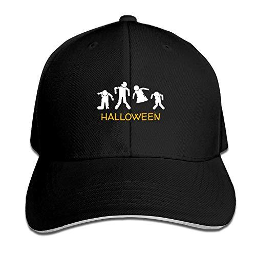 XCOZU Unisex Halloween Zombie Baseball Cap Baseball Caps für Männer Verstellbare Sportbekleidung Dad Hüte