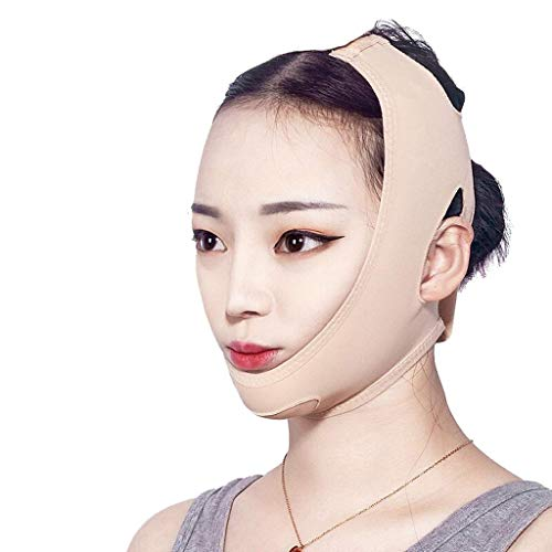 HJTLK Ceinture Amincissante Lifting Visage, V-Face Lifting, Lifting and Firming Double Chin Sleep Bandage Facial Slimming Strap