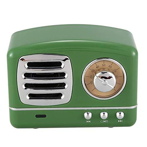 WOHAO Jouets sonores Boîtes à Musique Retro Mini Portable USB sans Fil Music Box Radio TF Music Card Player (Couleur: Vert, Taille: Gratuit) (Color : Green, Size : Free)