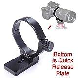 iShoot カメラリング式三脚座, for シグマ Sigma AF APO 70-200mm f/2.8 EX DG OS HSM, 70-200mm f/2.8 EX DG MACRO HSM, 70-200mm f/2.8 II EX DG MACRO HSMレンズ, シグマTS-21の交換レンズサポート襟、三脚マウントリングのボトムはARCA-SWISSタイプクイックリリースプレート