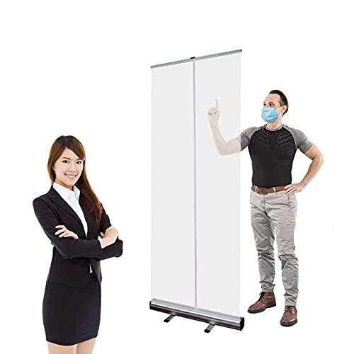 EW&HU Enrolle la pancarta transparente, la pantalla de la protección de estornudos, la pantalla de distanciamiento social, la protección de escupituras, la pantalla de partición transparen